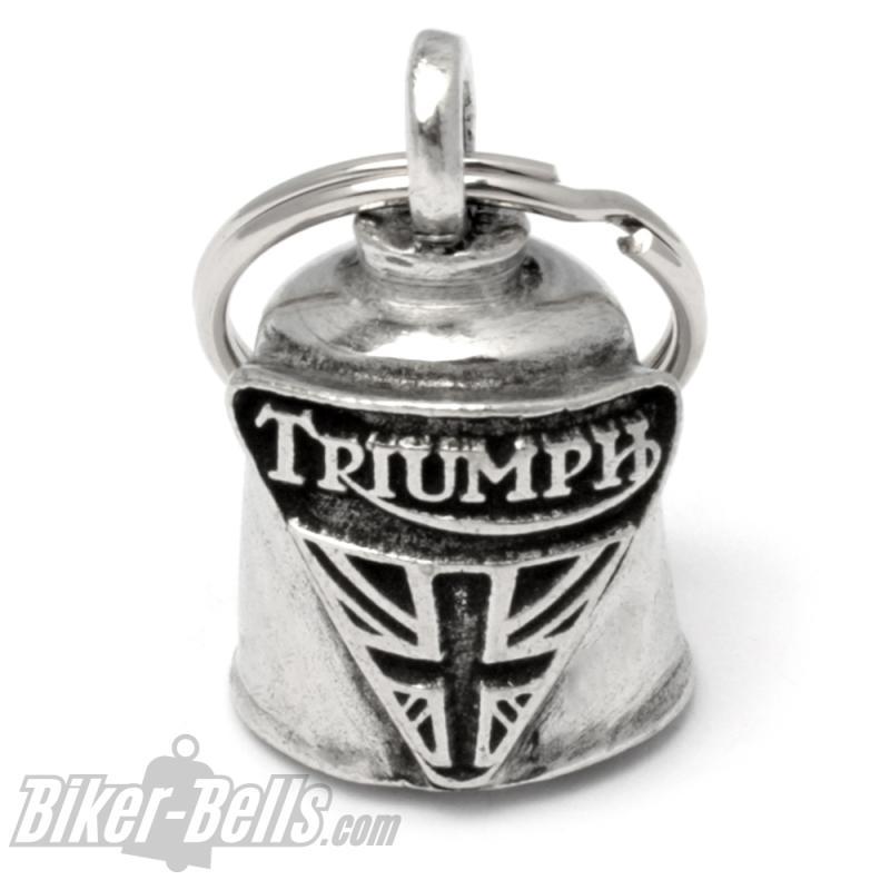 Glücksbringer Biker-Bell für Triumph Motorräder Glücksglocke Geschenk Gremlin Bell